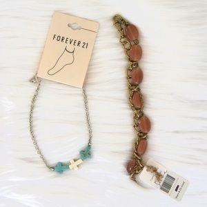 Bracelet and Anklet Bundle